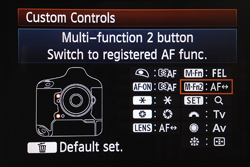 This screen shows current assignment for all programable buttons.