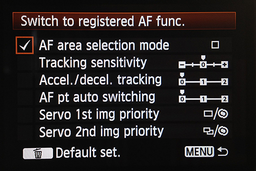 "elect AF area selection mode, rotate command dial and press the ""set"" button."
