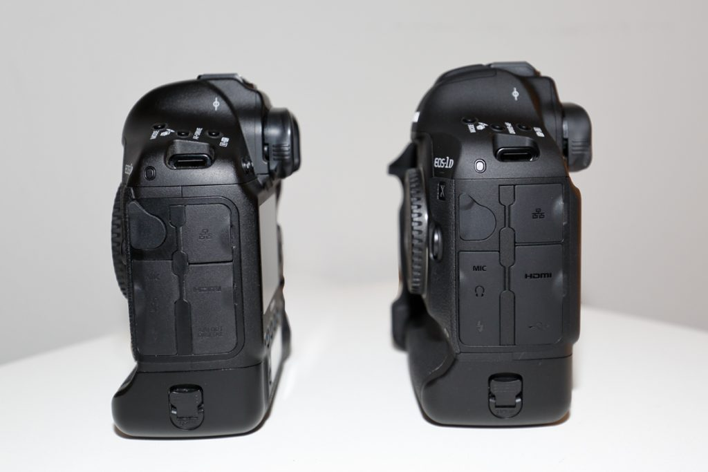 EOS 1DX (left) vs. EOS 1D X Mark II (right)